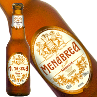 Birra Ambrata Menabrea, 24 bottiglie da cl.33, alc. 5,0% vol.
