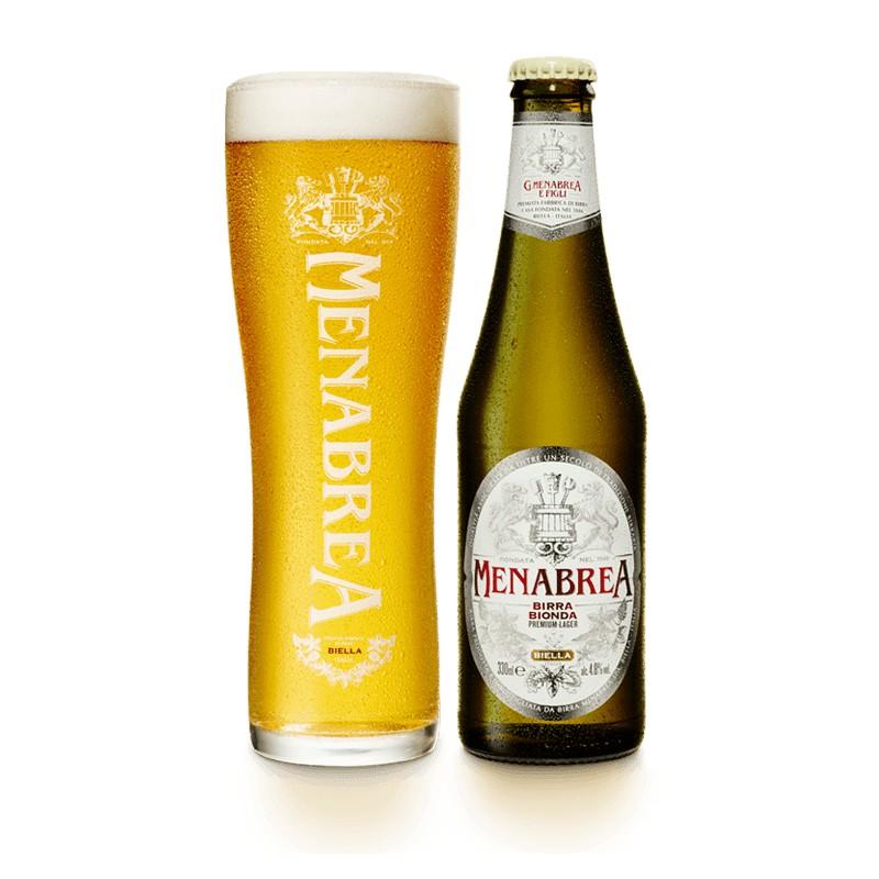 Birra Bionda Menabrea, 24 bottiglie da cl.33, alc. 4,8% vol.