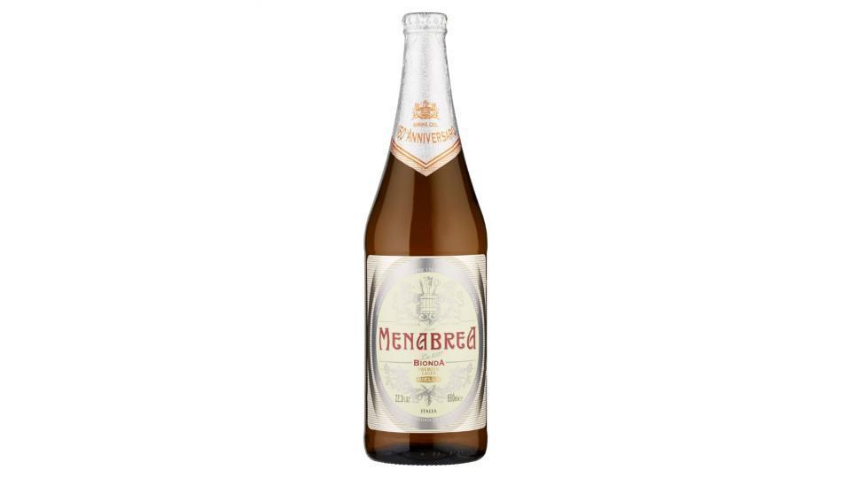 Birra Bionda Menabrea, 15 bottiglie da cl.66, alc.4,8% vol.