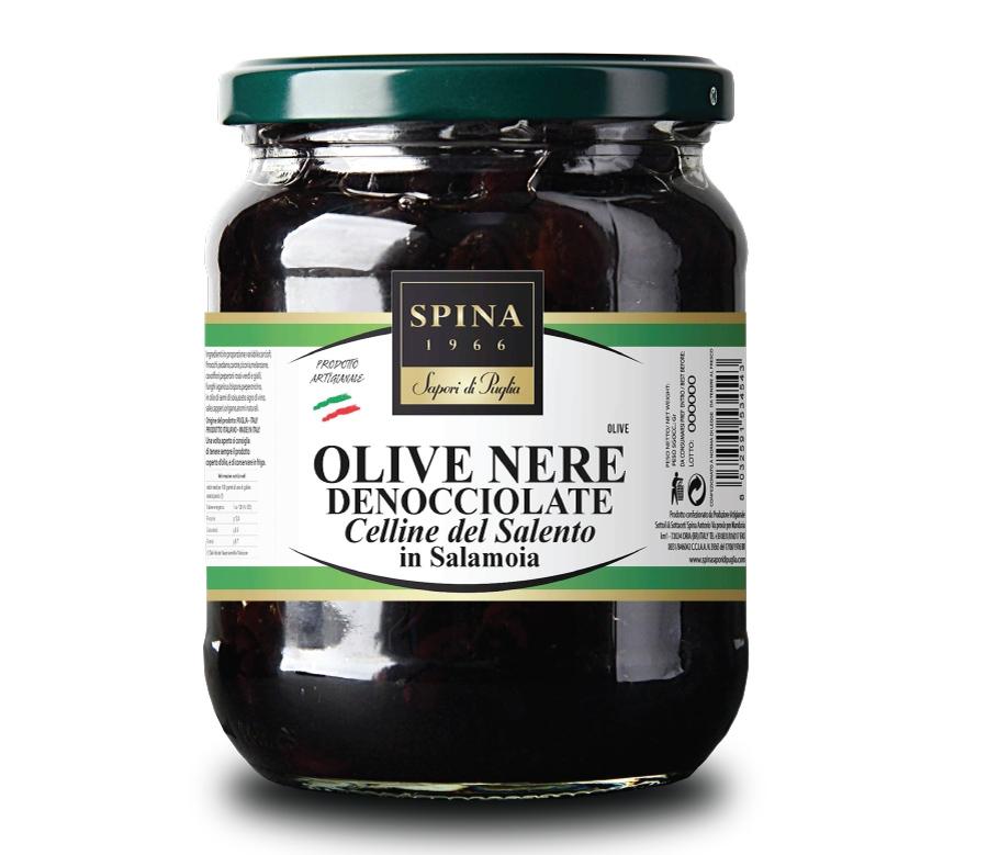 OLIVE NERE CELLINE DEL SALENTO DENOCCIOLATE 280g